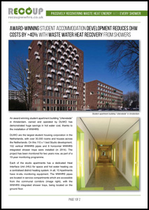 Recoup Case Study - Waste Water Heat Recovery Savings at Student