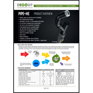 Recoup Pipe+ HE Product Overview