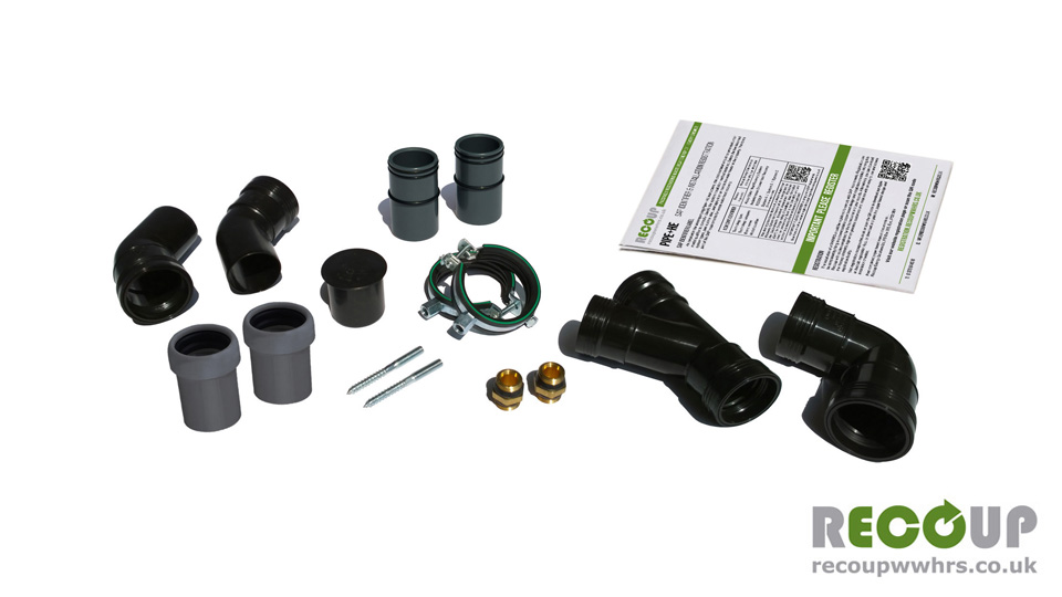 Recoup WWHRS Pipe+HE Installation Kit