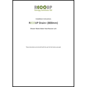 Recoup Drain+ Compact installation and data