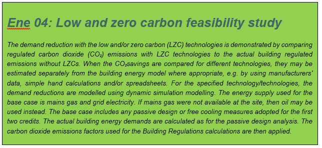 Ene 04, Low and zero carbon feasibility study