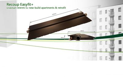 Recoup Easyfit+: WWHRS for new-build apartments, commercial & residential retrofit