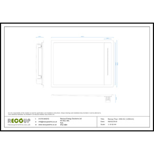 Recoup Tray+ DSS-S2 (1200mm) Drawing