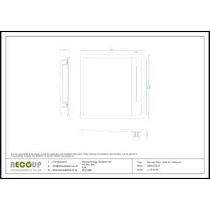 Recoup Tray+ DSS-S2 (900mm) Drawing