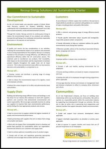Recoup WWHRS, Recoup Energy Solutions Ltd - Sustainability Charter