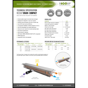 Recoup Drain+ Compact Technical Specification