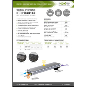 Recoup Drain+ Duo Technical Specification