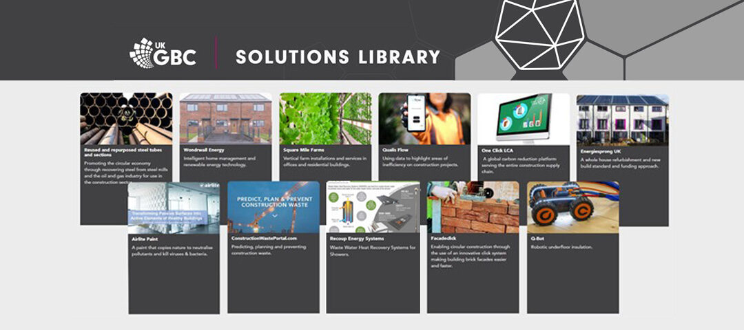 UKGBC Solutions Library features Recoup WWHRS